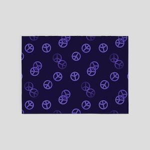 Purple Peace Pattern 5'x7'Area Rug