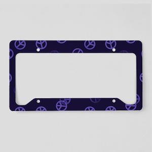 Purple Peace Pattern License Plate Holder