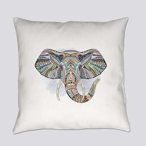 Tribal Elephant Everyday Pillow