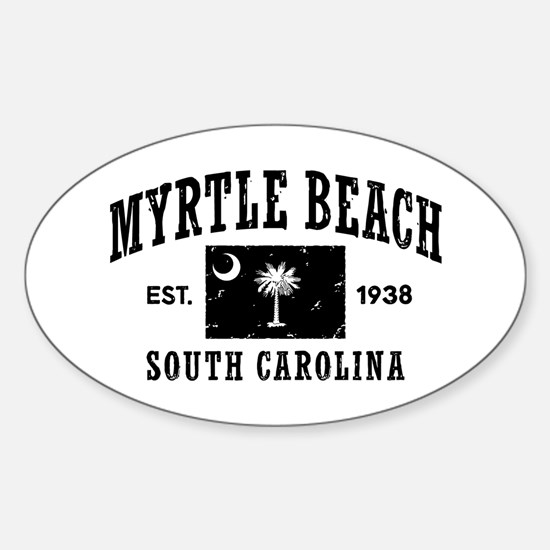 Myrtle Beach Sticker (Oval)