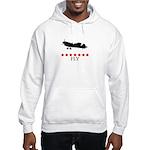 Fly (red stars) Hooded Sweatshirt