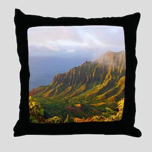 Kalalau Valley Sunset Throw Pillow