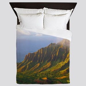 Kalalau Valley Sunset Queen Duvet