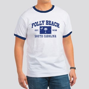 Folly Beach Ringer T