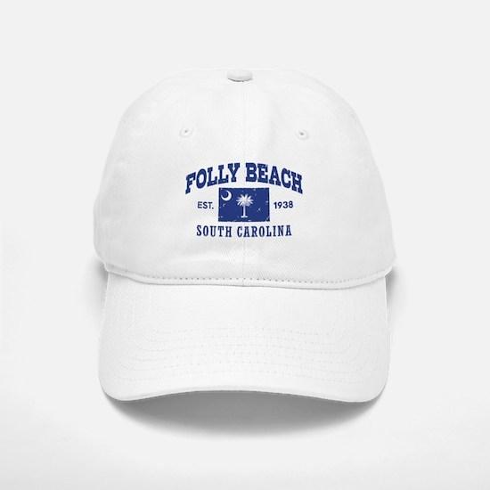 Folly Beach Baseball Baseball Cap