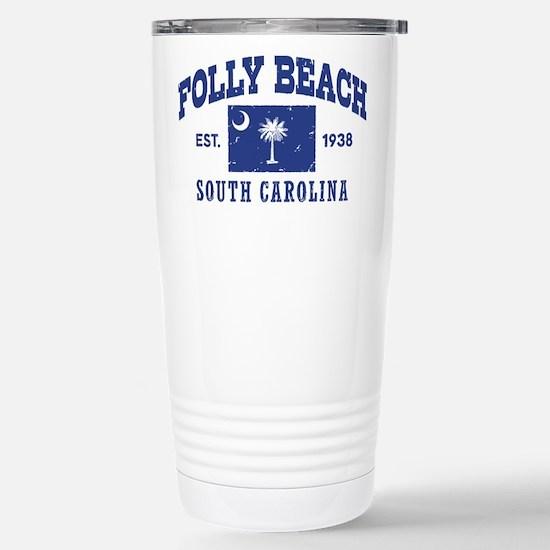 Folly Beach Stainless Steel Travel Mug