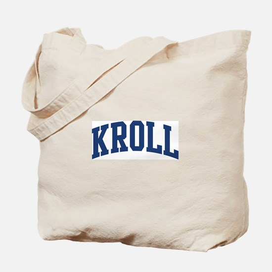 KROLL design (blue) Tote Bag