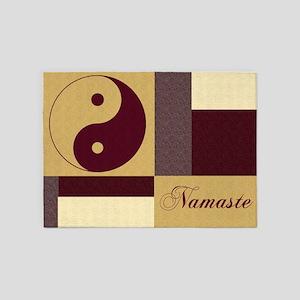 Yin Yang Namaste 5'x7'Area Rug
