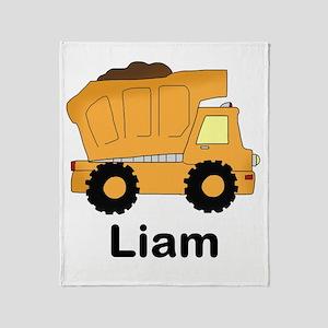 Liam's Dump Truck Throw Blanket