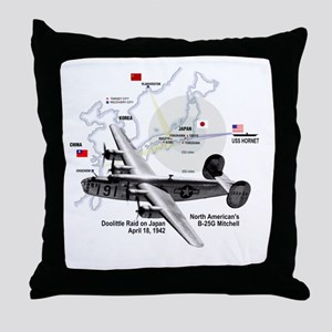 B-25 Mitchell 1942 Throw Pillow