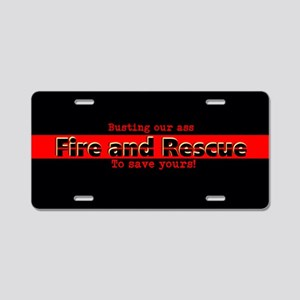 Fire And Rescue Aluminum License Plate