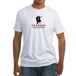 Dancers (red stars) Fitted T-Shirt