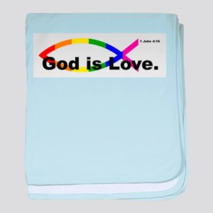 God is Love. baby blanket