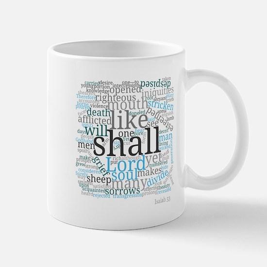 Isaiah 53 Typography Art Mugs