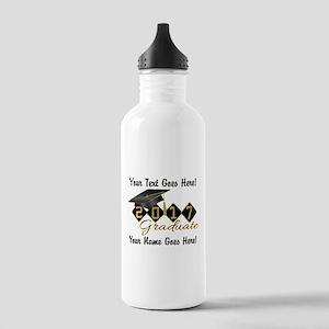 Graduate Black 2017 Stainless Water Bottle 1.0L