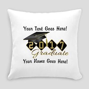 Graduate Black 2017 Everyday Pillow