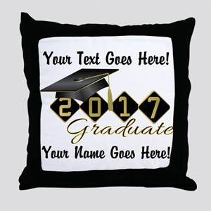 Graduate Black 2017 Throw Pillow