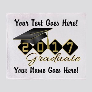 Graduate Black 2017 Throw Blanket