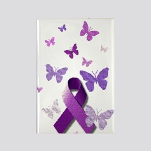 Purple Awareness Ribbon Magnets