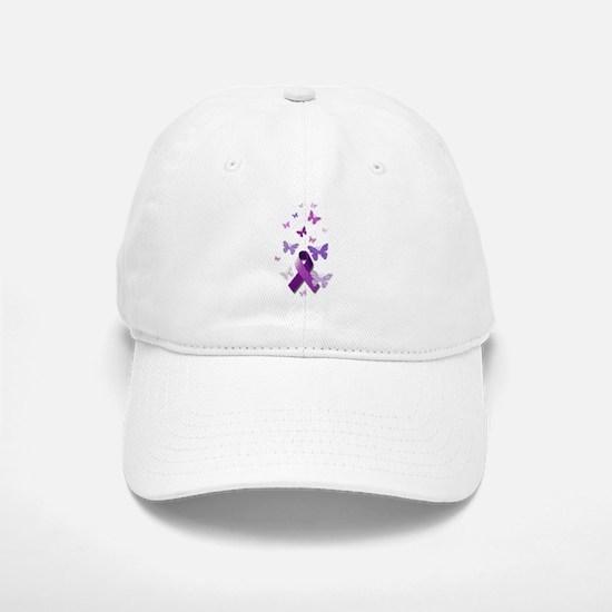 Purple Awareness Ribbon Baseball Baseball Baseball Cap