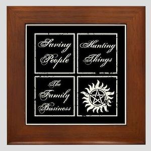 SPN Family Business Framed Tile
