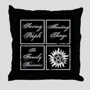 SPN Family Business Throw Pillow
