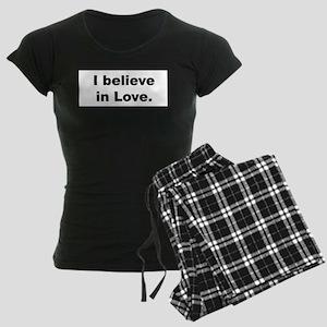 I Believe In Love Women's Dark Pajamas
