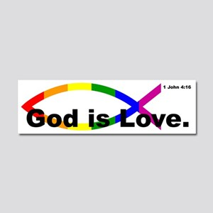 God Is Love Car Magnet 10 X 3