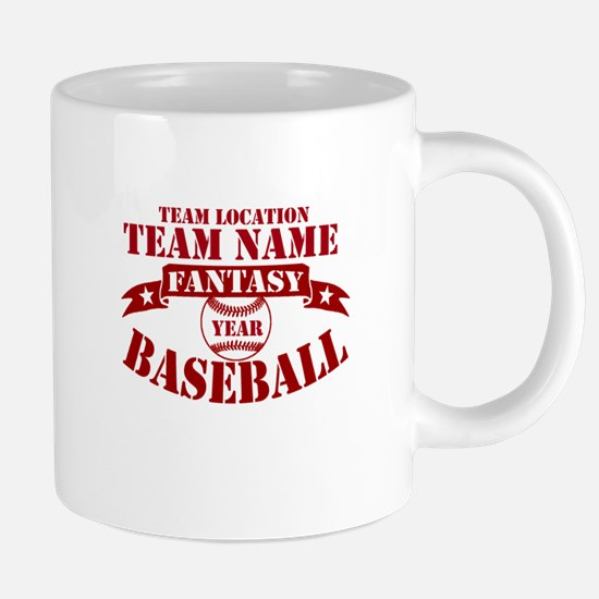 Your Team Fantasy Baseball Red Mugs