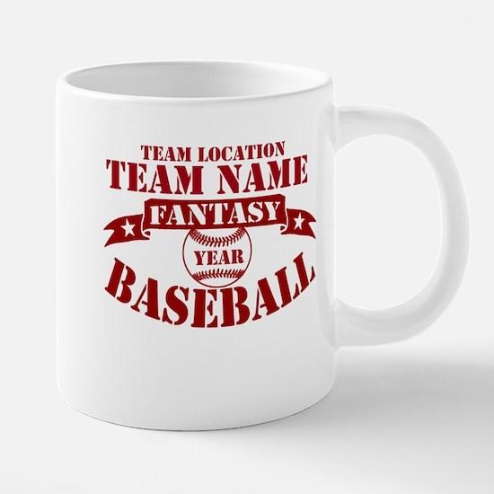 Your Team Fantasy Baseball Red Mugs