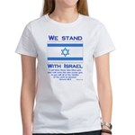 We Stand With Israel Women's T-Shirt