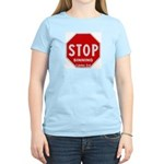 Stop Sinning Women's Pink T-Shirt