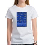 Hebrew Wall Chart Women's T-Shirt