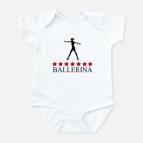 Ballerina  (red stars) Infant Bodysuit