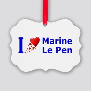 I Love Marine Le Pen Picture Ornament
