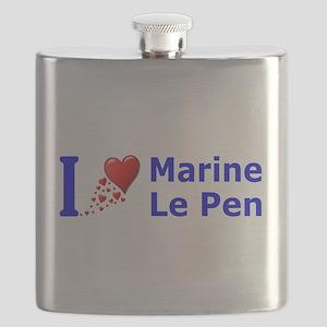 I Love Marine Le Pen Flask