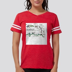 Caribbean Map T-Shirt