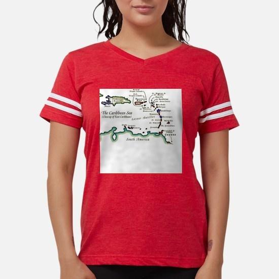 Caribbean Map T-Shirt