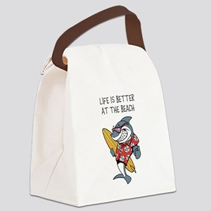 LIFE IS BETTER AT THE BEACH Canvas Lunch Bag