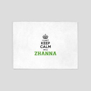 Zhanna I cant keeep calm 5'x7'Area Rug
