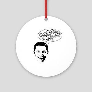 Obama for Peace Ornament (Round)
