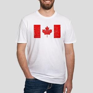 Canadian Flag Grunge T-Shirt