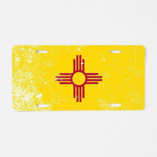 Cute Mexican flag Aluminum License Plate