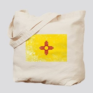 New Mexico State Flag Grunge Tote Bag