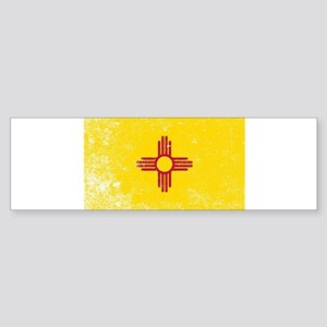 New Mexico State Flag Grunge Bumper Sticker