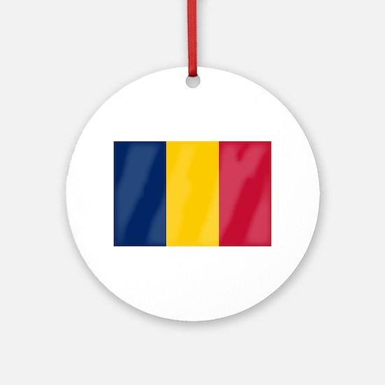 Chad Flag Round Ornament