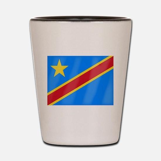Democratic Republic of the Congo Flag Shot Glass