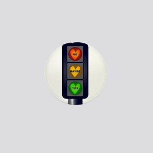 Yes No Maybe Traffic Lights Mini Button