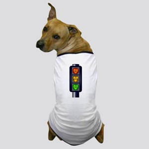 Yes No Maybe Traffic Lights Dog T-Shirt