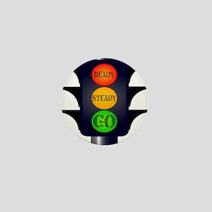 Ready Steady Go Traffic Lights Mini Button